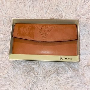New brown Rolfs Genuine leather wallet
